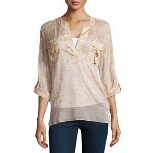 Diane Von Furstenberg Danielle Metallic Shirt